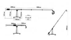 Teleskopinis kranas 1,5 - 6 m